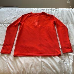 Boys red spyder shirt